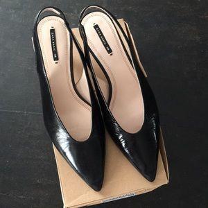 Zara Sling Back Kitten Heels Size 39